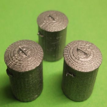 O Scale Dustbins - Pack of 3